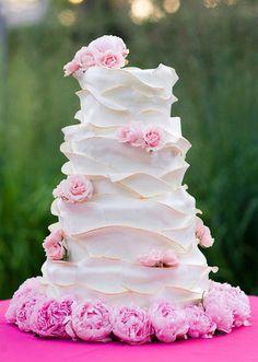 faboul cake, chocolates, beauti cake, larg ruffl, cake idea