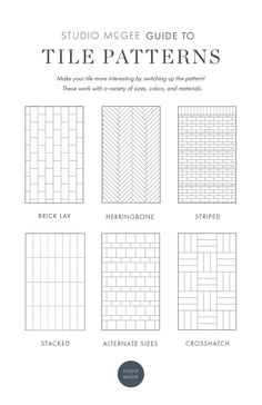 Guide to Patterned Tile - Studio McGee Blog