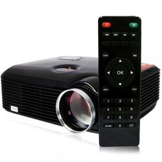 "Capable of creating a screen from 30"" to 150"", this PH5 Home Cinema Business Use 2500 Lumens 2000:1 Contrast Radio 800 x 600 Resolution LCD Projector is perfect for a dorm room or business office use! Adopting high-quality materials and LED bulb, this LCD projector is durable in use.  #yeswefixgadgets #lcdprojector"