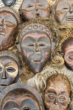 ::Vintage African masks
