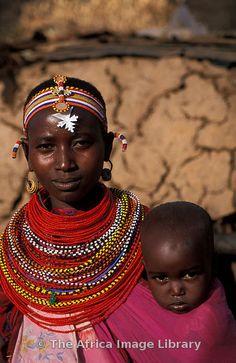 Babywearing ... Samburu, Kenya, Africa