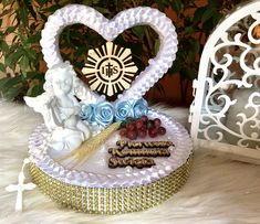 Wedding Gift Wrapping, Wedding Gifts, Baptism Gifts, Birthday Cake, God, Gift Boxes, Centerpieces, Ornaments, Manualidades