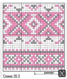 Easy Knitting Patterns for Beginners - How to Get Started Quickly? Crochet Snowflake Pattern, Tapestry Crochet Patterns, Fair Isle Knitting Patterns, Crochet Dolls Free Patterns, Fair Isle Pattern, Crochet Stitches Patterns, Knitting Charts, Crochet Chart, Bead Crochet