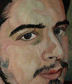 bonnie keller quilts | Fiber portrait by Marilyn Belford detail