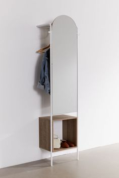 Rooney Entryway Storage Mirror - My Website 2020 Entryway Storage, Cubby Storage, Storage Mirror, Entryway Decor, Entryway Mirror, Record Storage, Mirrors Urban Outfitters, Hanging Scarves, New Room