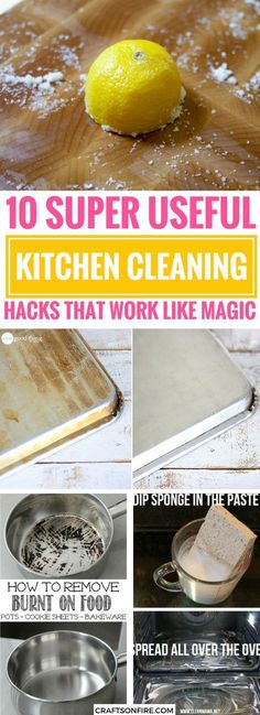 This post will take you through the BEST ways to clean your kitchen and show you some neat cleaning hacks you've been missing out on. Definitely worth trying these kitchen cleaning hacks because it will SAVE so much time.