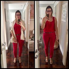 Office Look, primavera, spring, vermelho, red, color blocking, animal print, lenço, scarf