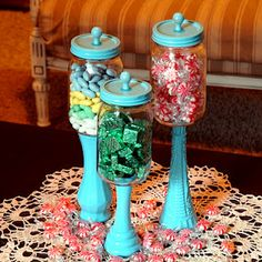 Cute idea for all those flower vases that are in the closet!
