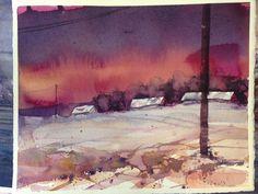 Seamless Expression: My Bjorn Bernstrom Watercolor Workshop, pt. 3