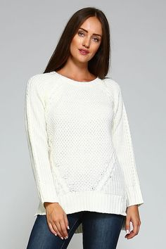 85d8a06d189b9 White Cable Knit Pullover Sweater White Sweaters