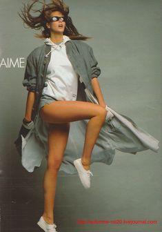☆ Elle MacPherson | Photography by Gilles Bensimon | For Elle Magazine France | February 1985  ☆ #Elle_MacPherson #Gilles_Bensimon #Elle #1985