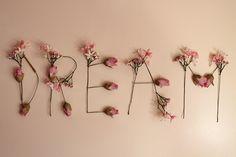 Dream Flower Letters!