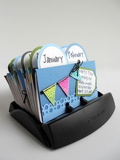 rolodex journal - love the little pennant!