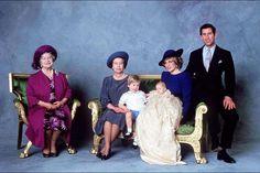 Baptême du prince Harry, fils du prince Charles et de Lady Diana, le 21 décembre 1984