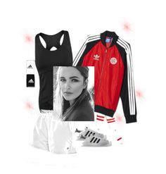 """""""Red velvet #adidas #sporty"""" by tennisidentity ❤ liked on Polyvore featuring Stance, adidas and K-Swiss"""