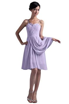 Sunvary Knee Length Chiffon Cocktail Bridesmaid Dress Juniors Homecoming Evening Prom Gowns US Size 8- Light Sky Blue - Brought to you by Avarsha.com