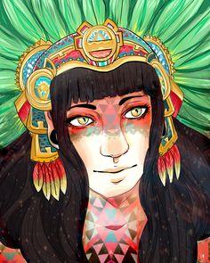 xochiquetzal by korangi.deviantart.com on @deviantART xochiquetzal goddess of beauty and love in the  Aztec mythology.