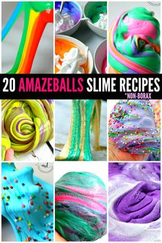 20 Amazing DIY Non-Borax Slime Solutions for a fun creative science experiment that kids love, create at home SLIME that will BLOW YOUR MIND