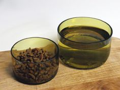 Upcycled Wine Bottle Pet Food Bowls     by MidnightandMagnolias, $18.00