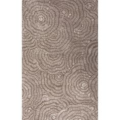 Jaipur Rugs Modern Floral Pattern Taupe/Ivory Wool Area Rug LST33 (Rectangle)