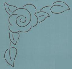 """Corner Rose 6"""" - The Stencil Company"""