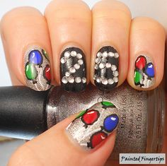 Painted Fingertips | Birthday nails