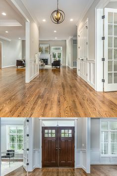 Detailed trim work, 10' and double height ceilings, recessed lights, wide plank hardwood flooring, and custom details throughout most of the home. Grand foyer with perfect flow for entertaining. Listed in Vienna, VA for $1,599,999 by The Casey Samson Team is a Wall Street Journal Top Team in Northern Virginia.