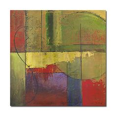 Hand-painted Abstract Oil Painting with Stretched Frame – USD $ 59.99
