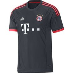 New Champion's League kit for Bayern München from adidas, fluorescent red on midnight blue.. sharp!