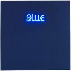 MAURIZIO NANNUCCI Blue, 1970.