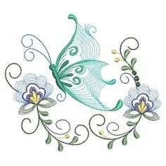 Rippled Dancing Butterflies 8 - 3 Sizes! | What's New | Machine Embroidery Designs | SWAKembroidery.com Ace Points Embroidery