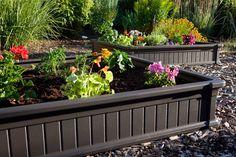 raised flower garden beds | Raised Garden Bed Kit uv-protected high-density polyethylene 2 of (4 ...