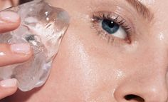 Rub an ice cube all over the area for about two minutes before applying an acne cream or a DIY face mask.