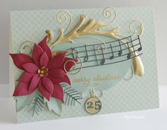 Memory Box, Merry and Bright… NEW Gwyneth Flourish… Christmas Card Crafts, Xmas Cards, Handmade Christmas, Holiday Cards, Memory Box Cards, Memory Box Dies, Poinsettia Cards, Christmas Poinsettia, Christmas 2015
