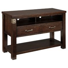 Vintage Casual® Console Table - Dark Brown - Signature Design by Ashley