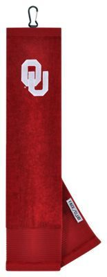 Team Effort NCAA Face/Club Embroidered Golf Towel - University of Oklahoma