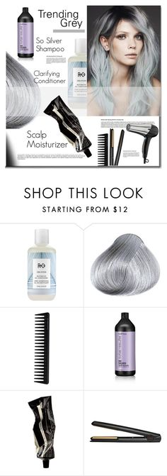 """Trending Grey"" by mslewis6 ❤ liked on Polyvore featuring beauty, R+Co, GHD, Matrix Biolage, Aesop and Conair"