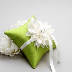 Wedding Ring Bearer Pillow Bridal Ring Pillow Flower by woomeepyo