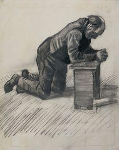 'Old Man Praying', drawing by Vincent van Gogh.jpg