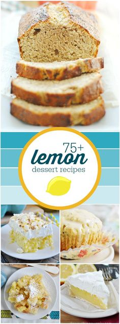 75   Lemon Dessert Recipes | http://www.somethingswan...