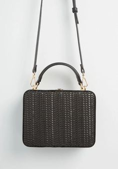 New Arrival Dresses and Clothing for Women | ModCloth New Arrival Dress, Basket Bag, Cute Bags, Womens Purses, Black Cross Body Bag, Beautiful Bags, Hippie Style, Modcloth, Women's Accessories