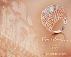 New Barocco, a grandeur story of the finest gold threads woven together. Lotus Jewelry, Coin Jewelry, Jewellery, Italian Jewelry, Roberto Coin, Corporate Gifts, Coins, Fashion Jewelry, Rose Gold