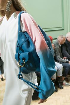 Anderson at London Fashion Week Spring 2017 - Details Runway Photos High Fashion, Womens Fashion, London Fashion, Scented Sachets, Bleu Turquoise, Sling Backpack, Runway, Bring It On, Backpacks
