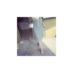 Tulle Skirt ($22) ❤ liked on Polyvore