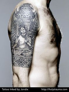 Tattoo inked by Jondix. HolyTrauma.com