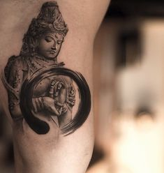 Buddha with a force-field - This is a great choice if you are looking for Buddha tattoo designs that are unique.