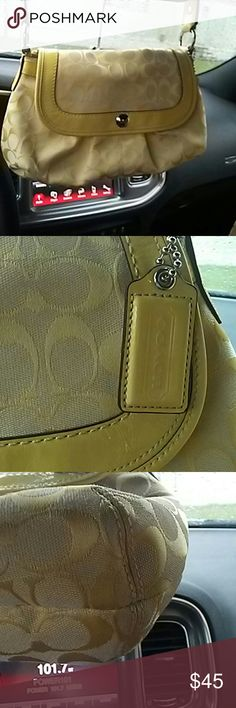Coach purse Coach purse beatuful needs some cleaning on the bottom corners but barely noticable Coach Bags Mini Bags