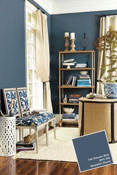 Ballard Designs Paint Colors, Fall 2015. Blue Dining Room PaintLiving ...