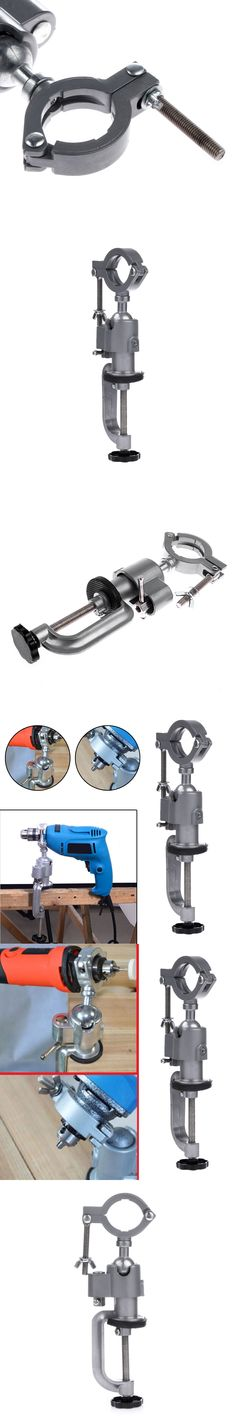 Universal Clamp-on Bench Vises Holder Mini Electric Drill Stand Make the Grinder Flat 360 Rotating for Woodworking
