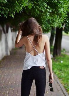 white top black jeans Jestem Kasia